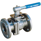 "1-1/4"" SS Split Body ANSI 150# Flanged Ball Valve With Manual Handle"