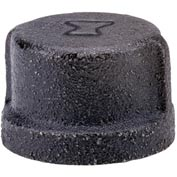 Anvil 1/2 In. Black Malleable Cap