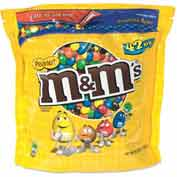 M&M's® Peanut Candy, Chocolate, 42 Oz