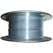 "Advantage 500' 3/8"" Dia. VC 7/16"" Dia. 7x19 Vinyl Coated Galvanized Aircraft Cable VCGAC375-437R500"