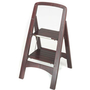 Cosco Two Step Rockford Wood Step Stool 225 lb. Cap. Mahogany - 11254MGY1