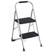 Cosco Two Step Big Step Folding Step Ladder W/ Rubber Hand Grip 200 lb. Cap - Gry/Black - 11308PBL1E