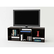 "Wide Bookcase/TV Stand for 60"" TVs Black Forest Finish"