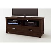 Two Drawer TV Stand Resort Cherry Finish