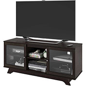 Transitional TV Stand & Media Storage Cinnamon Cherry