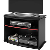 Swivel Top TV Stand in Black Finish