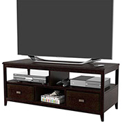 TV Stand with 2 Drawers & 3 Shelves Cinnamon Cherry