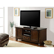 "Summit Mountain TV Stand for 55"" TVs Antique Pewter Finish"