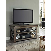 "Wildwood TV Console with Metal Frame for TVs up to 50"" Rustic Gray Finish"