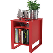 Ameriwood Side Table Ruby Red Finished