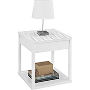 Parsons End Table White with Chevron Pattern Top