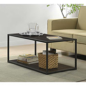 Ameriwood Coffee Table with Metal Frame Espresso Finish