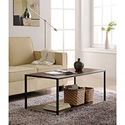 Ameriwood Coffee Table with Metal Frame Cherry Finish