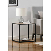 Ameriwood End Table with Metal Frame Sonoma Oak Finish