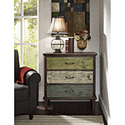 Ameriwood Sage 3-Drawer Storage Table Rustic Finish