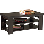 Hollow Core Contemporary Coffee Table Black Forest Finish
