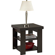 Hollow Core Contemporary End Table Black Forest Finish