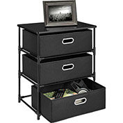 Ameriwood 3 Bin Storage End Table