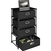 Ameriwood 4 Bin Storage End Table Black