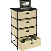 Ameriwood 4 Bin Storage End Table Natural
