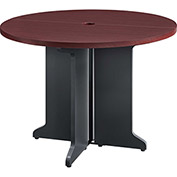Pursuit Round Table Cherry and Gray Finish