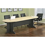 Benjamin Large Conference Table Natural and Gray Finish