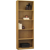 Ameriwood 5 Shelf Bookcase with 3 Adjustable Shelves in Oak Finish