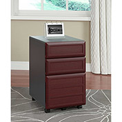 Pursuit Vertical 3-Drawer Mobile File Cabinet Cherry and Gray