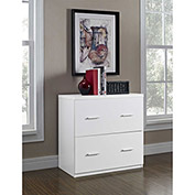 Princeton 2-Drawer Lateral File Cabinet for Home Office White