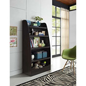 Ameriwood Mia Kids 4-Shelf Bookcase Espresso Finish