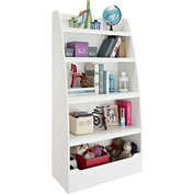 Ameriwood Mia Kids 4-Shelf Bookcase White Finish