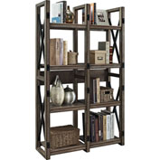 Ameriwood Wildwood Bookcase & Room Divider Rustic Gray Finish