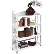 Ameriwood Daysha 4-Shelf Spindle Leg Bookcase White Finish