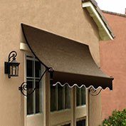 Awntech CH21-10BRN, Window/Entry Awning Brown 10-3/8'W x 1'D x 2'H
