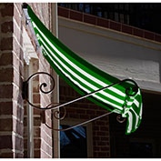 Awntech CH21-10FW, Window/Entry Awning Forest Green/White 10-3/8'W x 1'D x 2'H