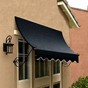 Awntech CH21-10K, Window/Entry Awning Black 10-3/8'W x 1'D x 2'H