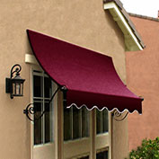 Awntech CH22-10B, Window/Entry Awning Burgundy 10-3/8'W x 2'D x 2-9/16'H