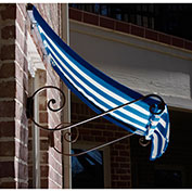 Awntech CH22-10BBW, Window/Entry Awning Bright Blue/White 10-3/8'W x 2'D x 2-9/16'H