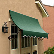 Awntech CH22-10F, Window/Entry Awning Forest Green 10-3/8'W x 2'D x 2-9/16'H
