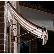 Awntech CH22-10WLTER, Window/Entry Awning White/Linen/Terra cotta 10-3/8'W x 2'D x 2-9/16'H