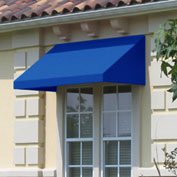 "Awntech CN32-8BB, Window/Entry Awning 8' 4-1/2"" W x 2'D x 3' 8""H Bright Blue"