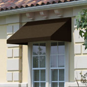 "Awntech CN34-5BRN, Window/Entry Awning 5' 4 -1/2""W x 4'D x 3' 8""H Brown"