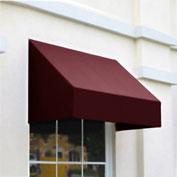 "Awntech CN34-6B, Window/Entry Awning 6' 4 -1/2""W x 4'D x 3' 8""H Burgundy"