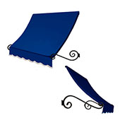 Awntech ECH1836-10BB, Window/Entry Awning Bright Blue 10-3/8'W x 3'D x 1-1/2'H
