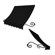 Awntech ECH1836-10K, Window/Entry Awning Black 10-3/8'W x 3'D x 1-1/2'H