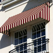 "Awntech EN23-8BT, Window/Entry Awning 8' 4-1/2"" W x 3'D x 2'H Burgundy/Tan"