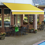 """Awntech MM10-587-Y, Retractable Awning Manual 10'W x 8'D x 10""""H Yellow"""