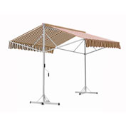 "Awntech RICH12-BRNT, Retractable Awning Free Standing Manual 11' 6""W x 16'D x 8'H Brown/Tan"