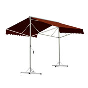 "Awntech RICH12-TER, Retractable Awning Free Standing Manual 11' 6""W x 16'D x 8'H Terra Cotta"