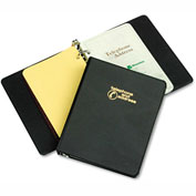 "Wilson Jones® Looseleaf Phone/Address Book, 1"" Capacity, 5-1/2 x 8-1/2, Black Vinyl"